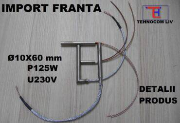 Rezistenta electrica cartus L60mm P125W 230V