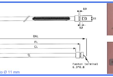 Rezistenta Tub Quart baza G1 D10mm