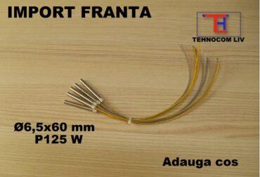 Rezistenţă tubulară cartus D6.5XL60mm 125 Wati