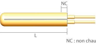 "Rezistenta cartus D12.7xL152.4mm D1/2""xL6"" 400 Wati"