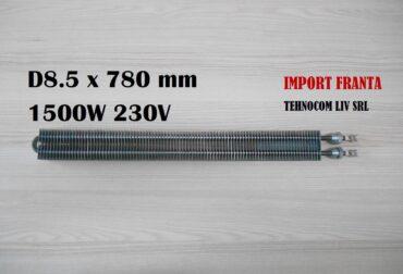 rezistenta electrica 8.5x780 1500w Rezistenta cuptor electric MOP ø8,5xL780mm 1500W