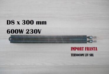 rezistenta electrica 8x300mm 600w