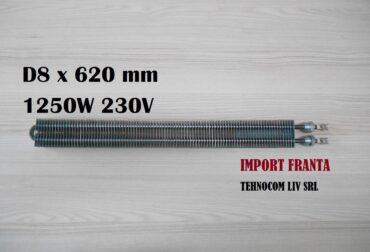 rezistenta electrica 8x620mm 1250w