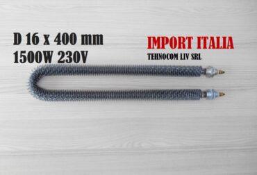 Rezistenta electrica curbata sau indoita Rezistenta cuptor electric Ø16xL400mm 1500Wati