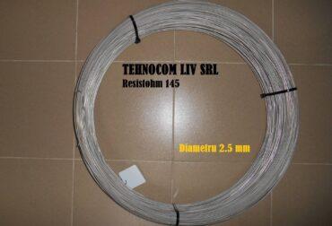 Nichelina Resistohm 145 diametru 2.5 mm