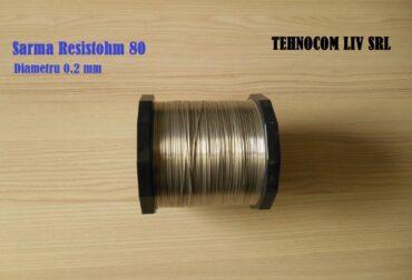 Nichelina Sarma Diametru 0.2mm Resistohm80 Nikrothal80