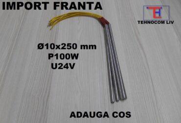 Rezistenta electrica cartus D10x250mm P100W U24V