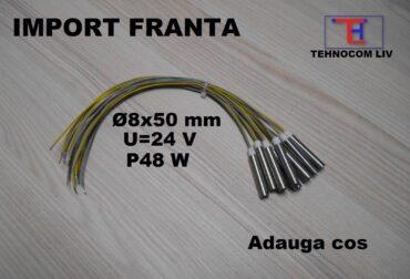 Rezistenta electrica cartus D8x50mm 48Wati 24Volti