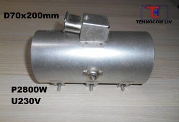 Rezistenta ceramica brichetat rumegus D70x200mm P2800W
