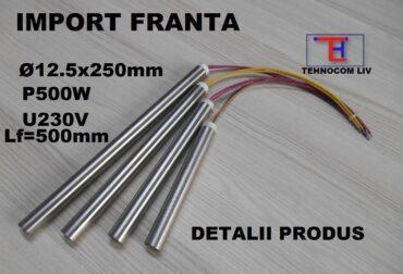 Rezistenta electrica cartus din inox D12.5XL250mm